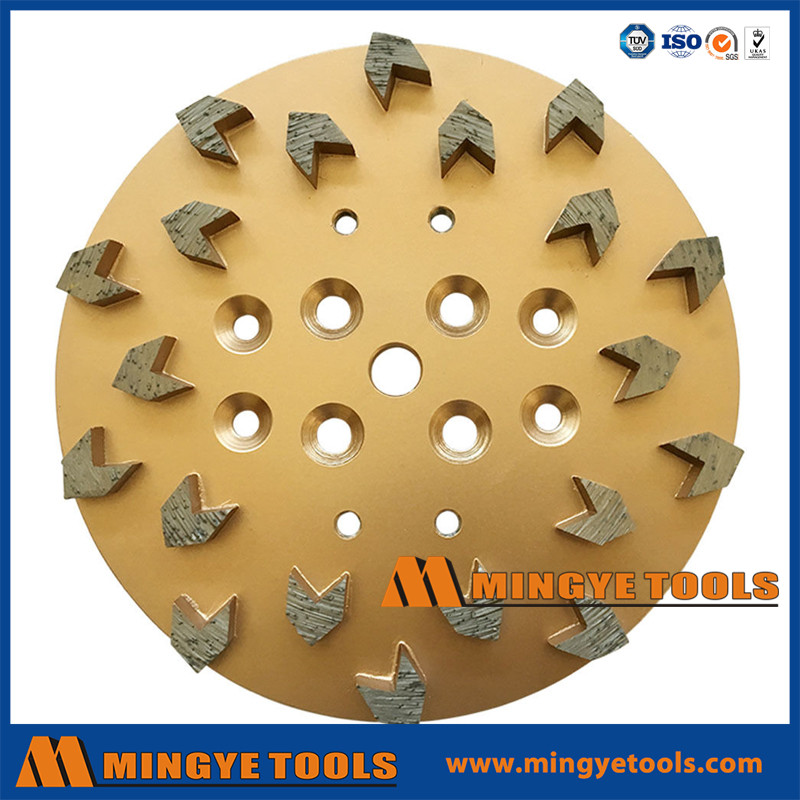 Arrow Diamond Concrete Grinding Head Disc Plate